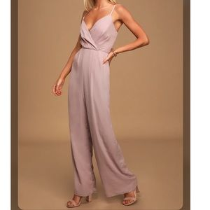 Lulu's• Call For Me Dusty Lavender Jumpsuit